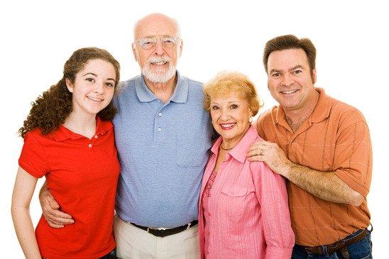 Extended Family Over White